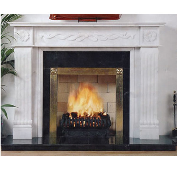 Stone fireplace artificial marble engineered stone and for Engineered fireplace